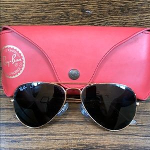 Ray-Ban Aviator Sunglasses, Case included